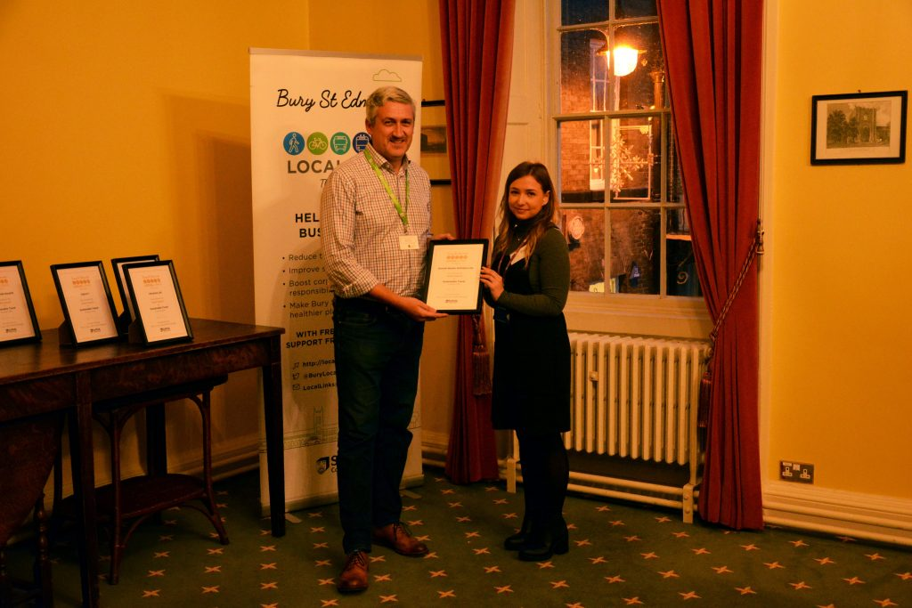 Gold award winners for sustainable travel initiative