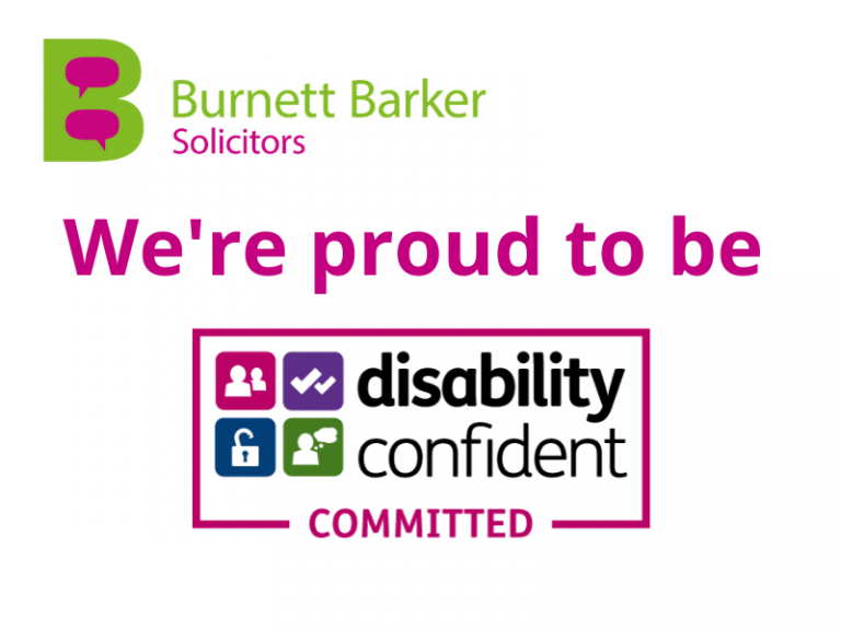 Burnett Barker solicitors Disability Confident Committed Employer status